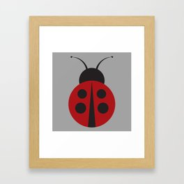 Who's That Lady Bug Print Seamless Pattern Framed Art Print