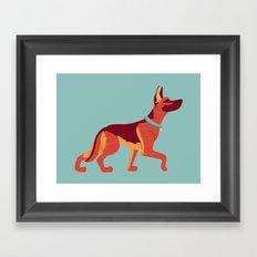 Man's Best Friend Framed Art Print