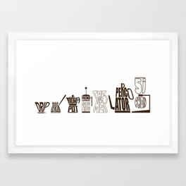 TYPOCOFFEE 2 Framed Art Print