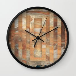 Cave abstraction Wall Clock