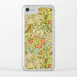 William Morris Golden Lily Vintage Pre-Raphaelite Floral Art Clear iPhone Case