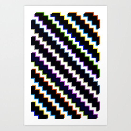 Pixel Split Art Print