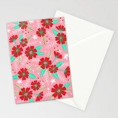 Floral Moths - Pink Stationery Cards