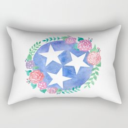 Tennessee Tri-star with flowers Rectangular Pillow