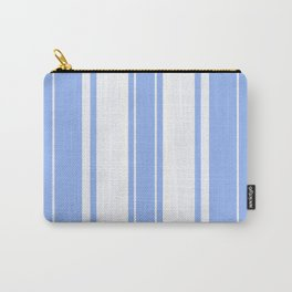 Strips - blue and white. Carry-All Pouch