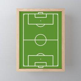Football field fun design soccer field Framed Mini Art Print