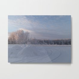 Sun Kissed Winter Metal Print
