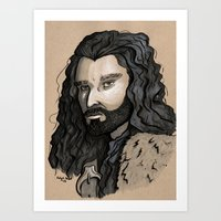 thorin Art Prints featuring Thorin by Katy-L-Wood