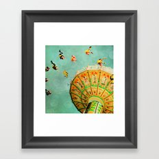 You Spin Me Right Round Carnival Swing Framed Art Print