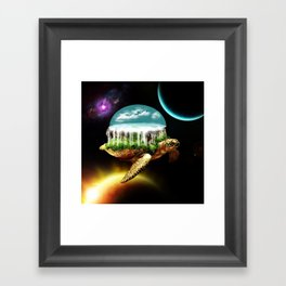 The great A Tuin Framed Art Print