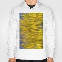 monet Hoodies featuring Autumn on the Monet by David Pyatt