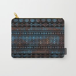Bronze and Rust Vintage  Aztec Peruvian Tribal Pattern Carry-All Pouch