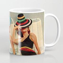 Retro Sunbathers Coffee Mug