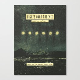 Lights Over Phoenix Canvas Print