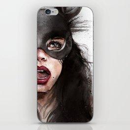 Cat woman iPhone Skin
