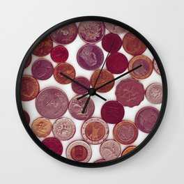 coin money collection Wall Clock
