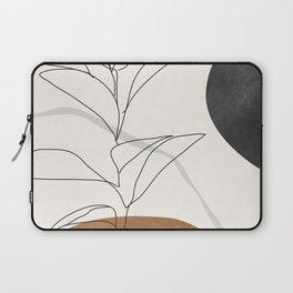 Abstract Art /Minimal Plant Laptop Sleeve