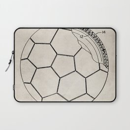 Soccer Patent - Football Art - Antique Laptop Sleeve