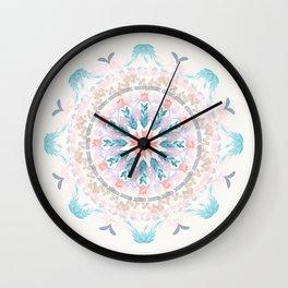 Pastel Goodness Soft Mandala Wall Clock
