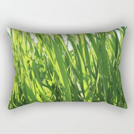Large reeds leaves in a cane grove Rectangular Pillow