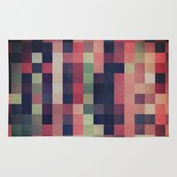 quilt Area & Throw Rugs featuring quilt n2 by spinL
