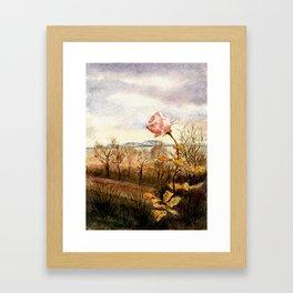 Autumn at the Lake Balaton Framed Art Print