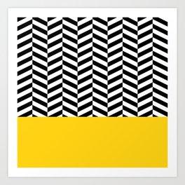 Black&Yellow Art Print