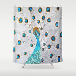Peacock and its beauty Shower Curtain