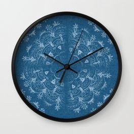 boho jeans mandala Wall Clock
