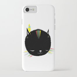 MIGHTY TIGARRR, BLACK KITTEN 묘 iPhone Case