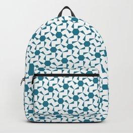 Damascus Motif Blue Palette Backpack