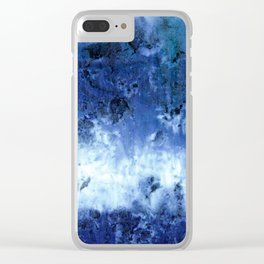 Saltwater Silk Blue Clear iPhone Case