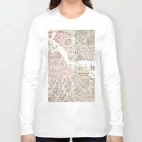 amsterdam Long Sleeve T-shirts featuring Amsterdam by Mapsland