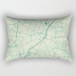 Munich Map Blue Vintage Rectangular Pillow