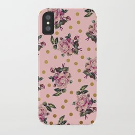 Pink Roses on Pink iPhone Case