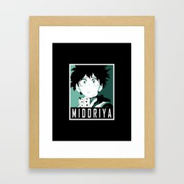 Midoriya Hope Poster V2 Framed Art Print
