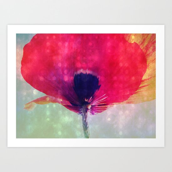 Mod Poppy Art Print