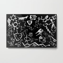 """Rinconada Canyon Petroglyphs"" Metal Print"