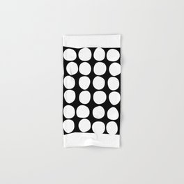 Dots black n´white Hand & Bath Towel