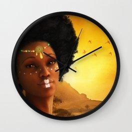 African Princess Wall Clock