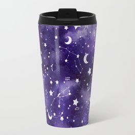 Zodiac Watercolor Ultraviolet Travel Mug
