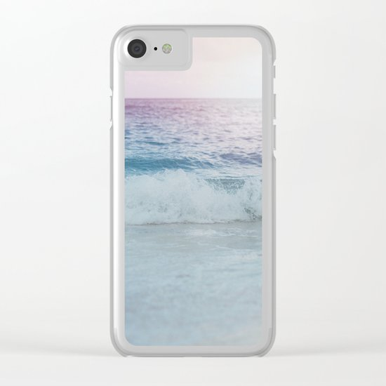 Cali Ocean Vibes Clear iPhone Case