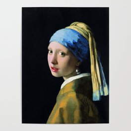 Vermeer - Girl with a Pearl Earring Poster