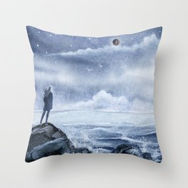 West, west away... Throw Pillow