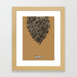 The Beards ~ Beard print Framed Art Print