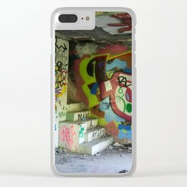 Abandoned Graffiti Clear iPhone Case