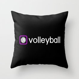 Volleyball (Purple) Throw Pillow