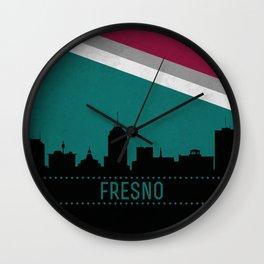 Fresno Skyline Wall Clock