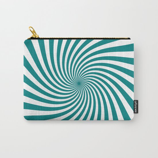 Swirl (Teal/White) Carry-All Pouch