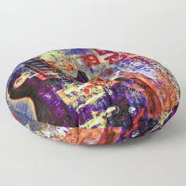 Electric Rock and Roll Floor Pillow